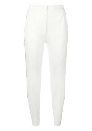 Dolce & Gabbana piped cropped trousers - White
