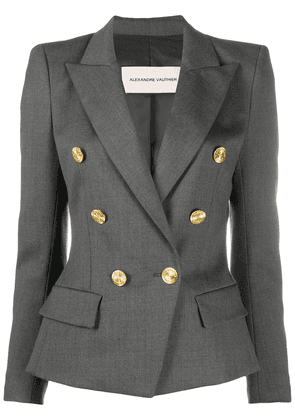 Alexandre Vauthier double-breasted fitted jacket - Grey