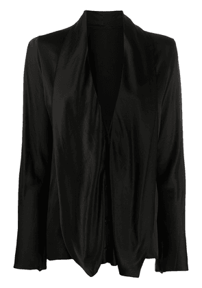 Haider Ackermann long-sleeved draped neck blouse - Black