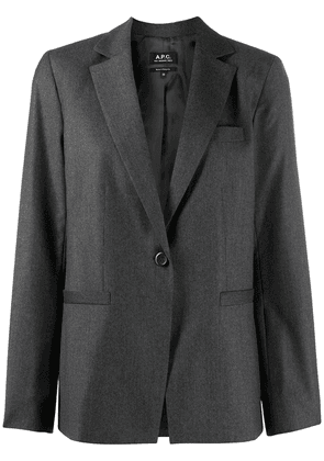 A.P.C. long-sleeved front button jacket - Grey