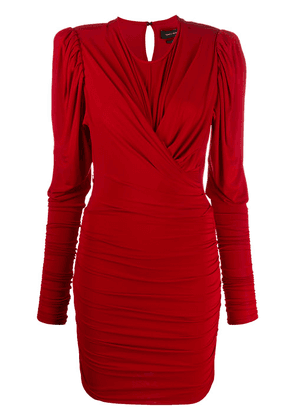Isabel Marant ruched long-sleeved midi dress - Red
