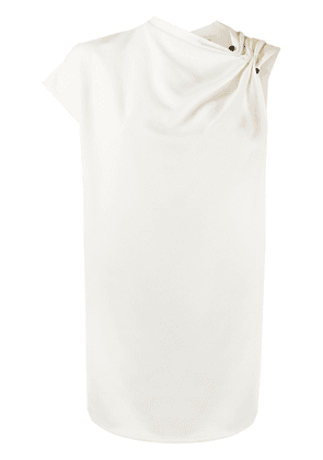 Victoria Beckham asymmetric cowl-neck top - White