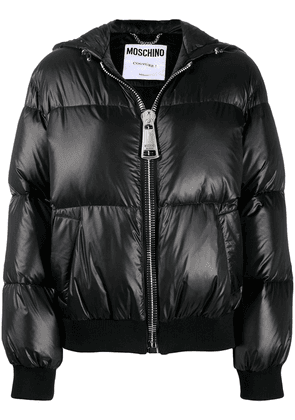 Moschino logo down jacket - Black