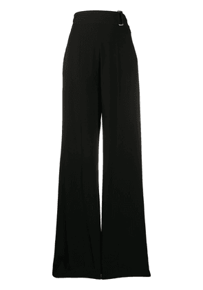 Victoria Beckham cutout-back flared trousers - Black