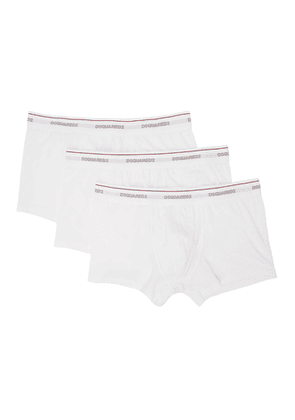 Dsquared2 Three-Pack White Logo Boxer Briefs