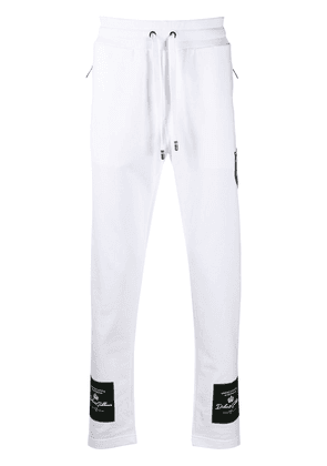 Dolce & Gabbana logo patch track pants - White