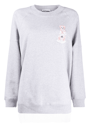 Moschino birthday Teddy sweatshirt - Grey