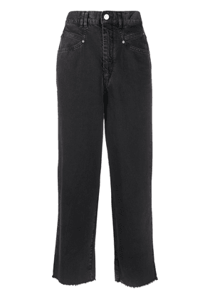 Isabel Marant high rise cropped jeans - Black