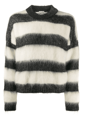 Saint Laurent striped relaxed fit sweater - Black