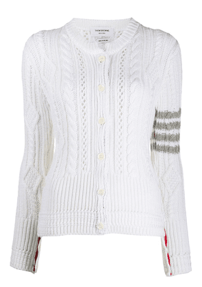 Thom Browne Aran cable knit cardigan - White