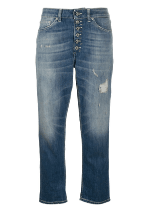 Dondup Koons loose-fit cropped jeans - Blue