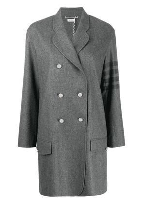 Thom Browne 4-bar unconstructed coat - Grey