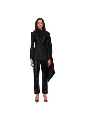Materiel Tbilisi Black Fitted Scarf Blazer