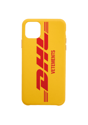 VETEMENTS Yellow DHL Express Edition Logo iPhone 11 Pro Max Case