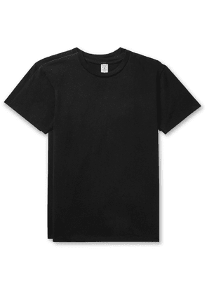 Velva Sheen - Two-Pack Cotton-Jersey T-Shirts - Men - Black