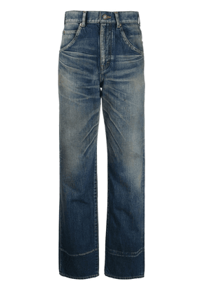 Saint Laurent faded high-rise jeans - Blue