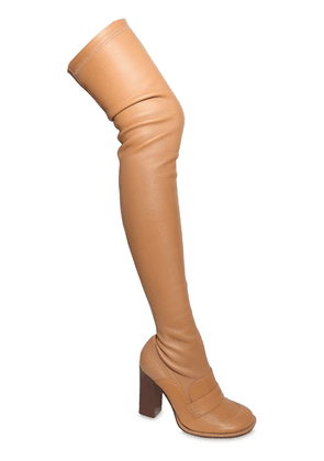 90mm Stretch Leather Over-the-knee Boots