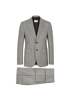 Maison Margiela Monochrome Houndstooth Wool Suit