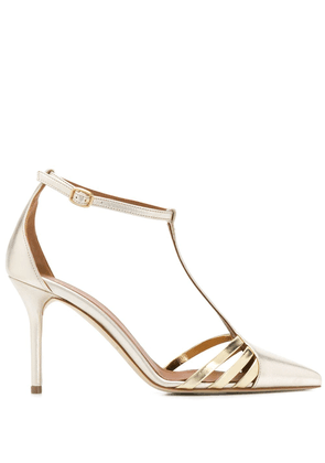 Malone Souliers Ila strappy two-tone sandals - GOLD