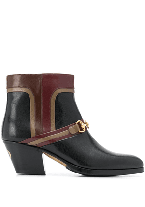 Gucci interlocking G horsebit boots - Black