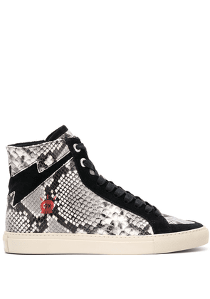 Zadig & Voltaire snake-effect panel sneakers - Black