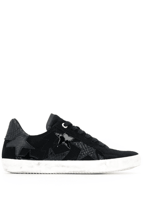 Zadig & Voltaire star-embellished low-top sneakers - Black