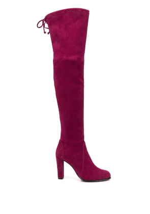 Stuart Weitzman Highland thigh-high boots - PURPLE