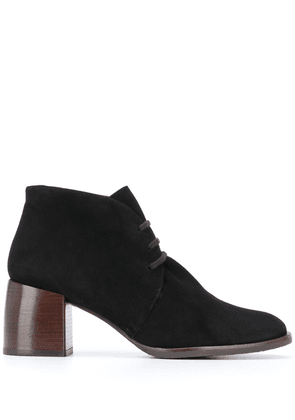 Chie Mihara block heel lace-up boots - Black