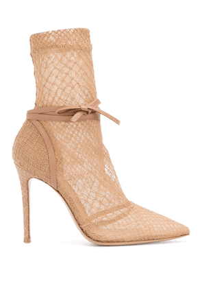 Gianvito Rossi Rochelle 110mm fishnet boots - Neutrals