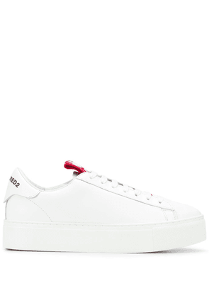 Dsquared2 logo-tongue sneakers - White