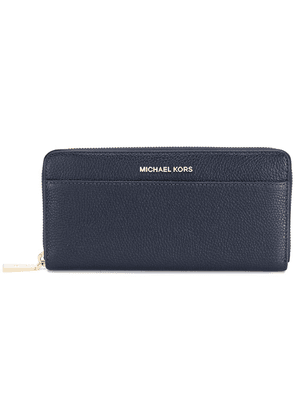 Michael Michael Kors logo plaque zip wallet - Blue