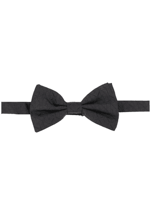 Dolce & Gabbana patterned silk bow tie - Black