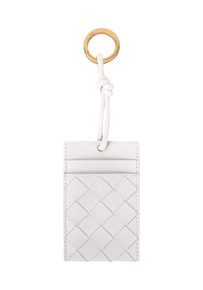 Bottega Veneta Intrecciato neck-strap cardholder - White