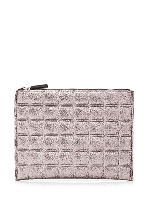 No Ka' Oi metallic quilted clutch - 8