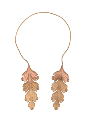 Ann Demeulemeester Twin acanthus leaf necklace - GOLD