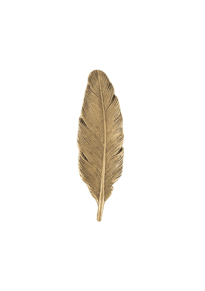 Ann Demeulemeester feather-shaped pin - GOLD