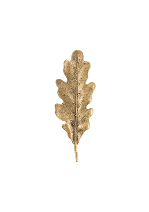 Ann Demeulemeester leaf-shaped pin - GOLD