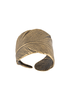 Ann Demeulemeester feather ring - GOLD