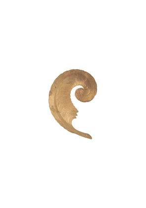 Ann Demeulemeester feather-shaped single earring - GOLD