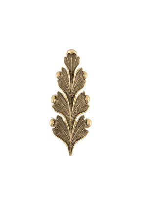 Ann Demeulemeester textured leaf-shaped pin - GOLD