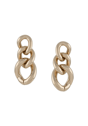 Ermanno Scervino chunky chain link earrings - GOLD