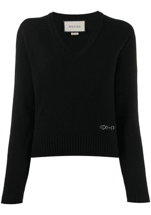 Gucci knitted long-sleeve jumper - Black