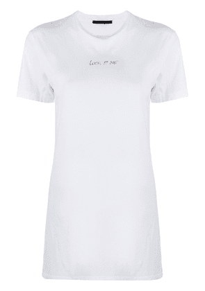 Haider Ackermann Look At Me print T-shirt - White