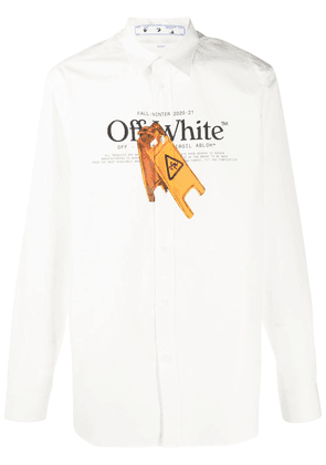 Off-White fall sign print shirt