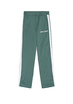 Palm Angels Classic Track Pants in Pine Green & White - Green. Size XL (also in ).