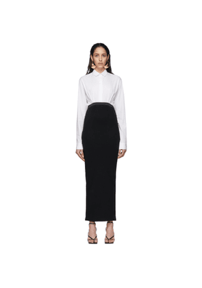 Haider Ackermann White and Black Elasticized Dress