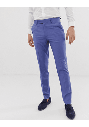 ASOS DESIGN skinny smart trouser in cornflower blue