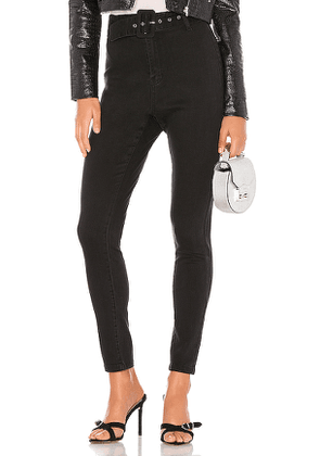 superdown Alina Belted Pant in Black. Size 23,26.