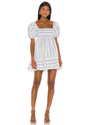 Lovers + Friends Hayworth Mini Dress in White,Blue,Pink. Size XS.