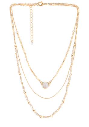 8 Other Reasons Melrose Necklace in Metallic Gold.